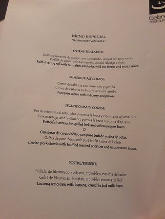 Restaurant week menu gelonch restaurant tripadvisor for 010 cuisine weekmenu