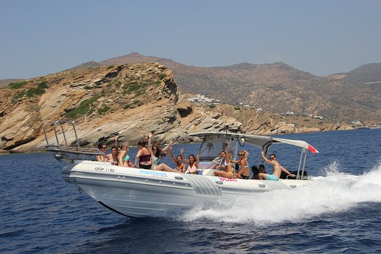 Milopotas, Grecia: Meltemi Speed boat Adventure
