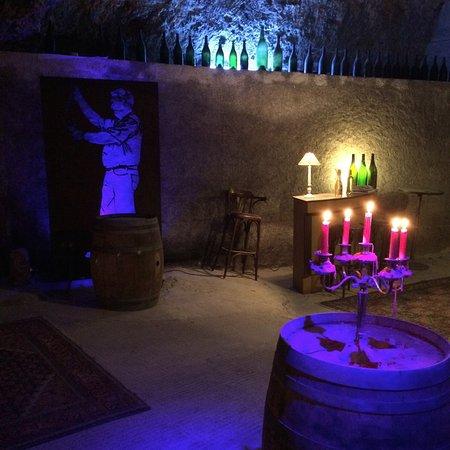 Rochecorbon, Fransa: Ambiance dans la cave
