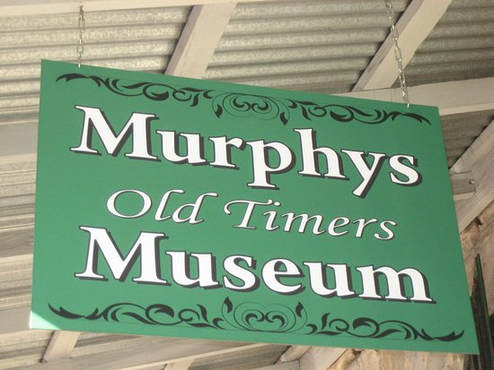 Murphys, CA: Old Timers Museum sign