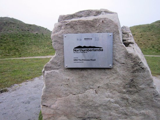 Cramlington, UK: The plaque which was unveiled by HRH The Princess Royal on 3rd September 2012.