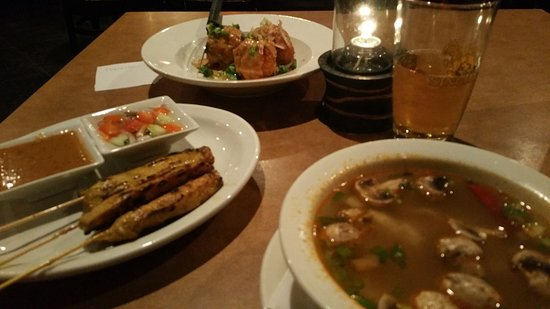 Collierville, TN: Satay Chicken, Tom Yum Soup & Thai Herb Rice Fritters