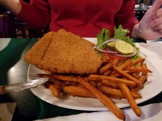 Fishers, IN: Breaded tenderloin with sweet potato fries