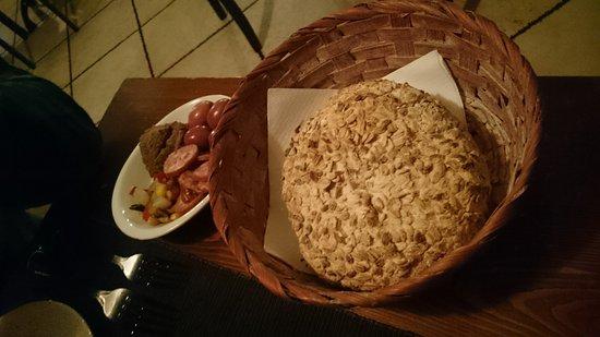 Bouquet Garni: Fresh warm bread and anti-pasti