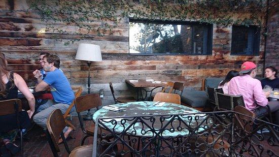 Gjelina: patio/garden dining
