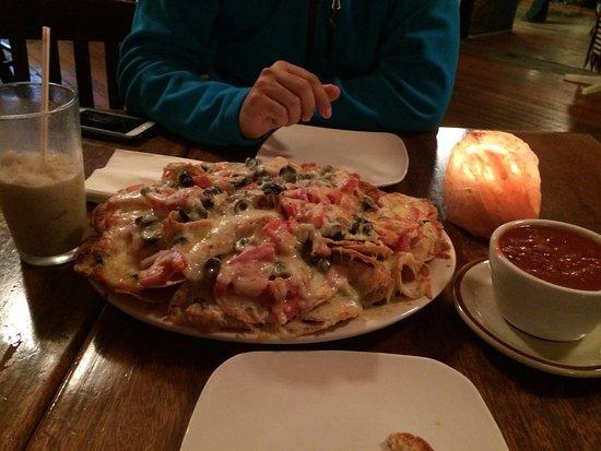 Pendleton, OR: melted cheese nachos