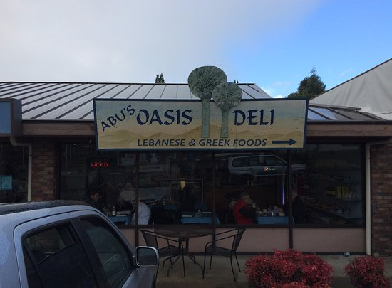 Grants Pass, Oregón: View of restaurant front from parking lot.