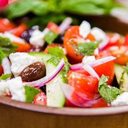 Cambridge, OH: Greek Salad with feta cheese