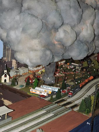 Collinsville, IL: Tornado on Model Train Layout at The Great American Train Show