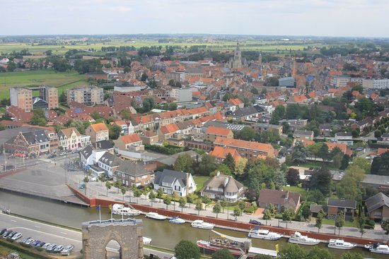 Diksmuide, Bélgica: Another view from the top of the Yser Tower