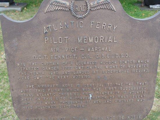 Gander, Canadá: Atlantic Ferry Pilot Memorial