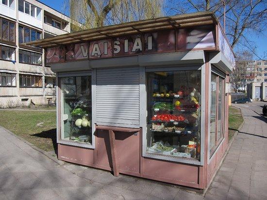 Trakai, Lituania: Venda de frutas