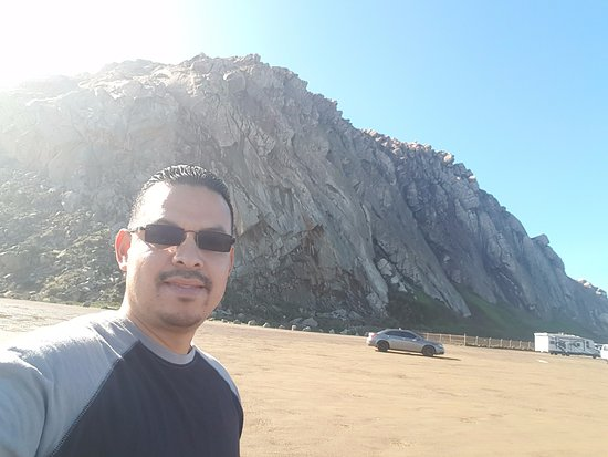 Morro Bay, CA: selfie with the rock!