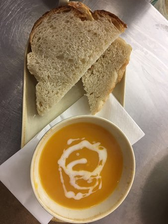 Strathaven, UK: Butternut and Coconut Soup with a hint of chilli.