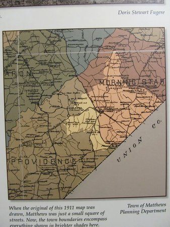 Matthews, NC: Old map