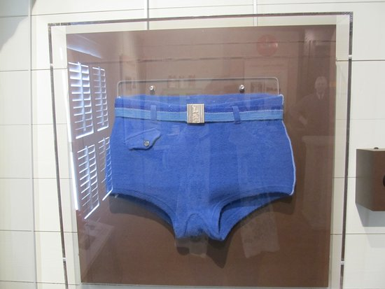Matthews, NC: Old time swim trunks