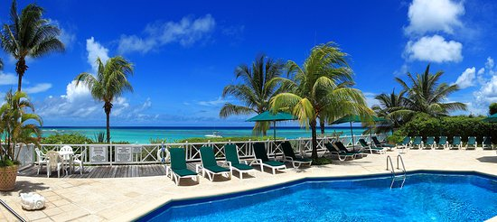 Worthing, Barbados: Picture of our pool on a beautiful day.