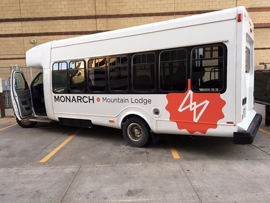 We offer free shuttles to and from Ski Monarch Mountain in the winter