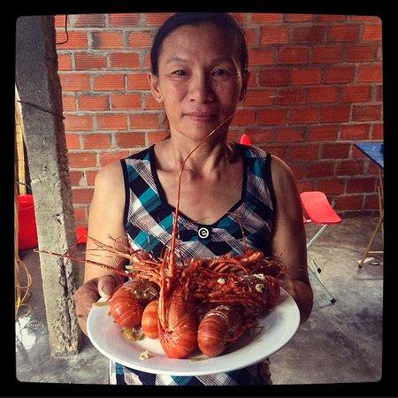 Quy Nhon, Vietnam: Langouste at a local restaurant