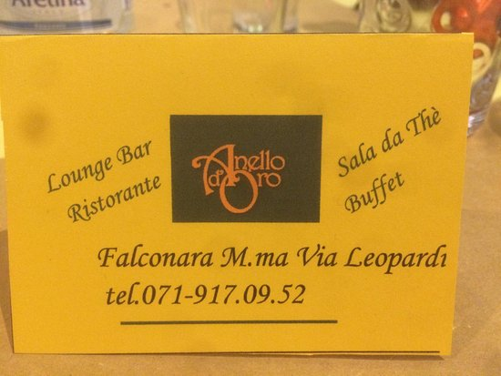 Falconara Marittima, Italia: Ristorante Anello D'Oro
