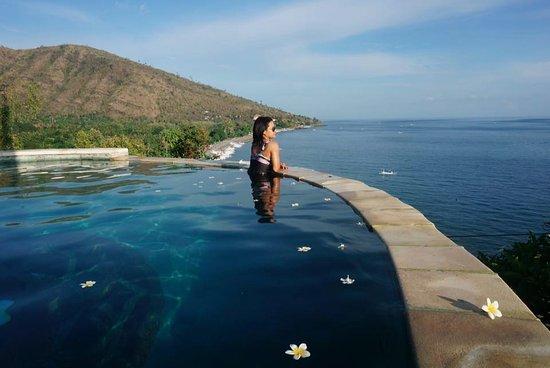 Bunutan, Indonesia: beautiful view from swimming pool