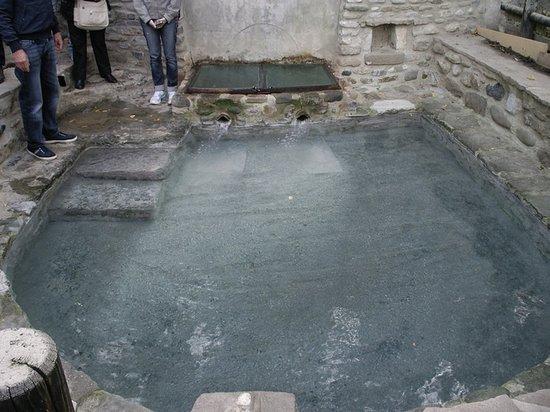 Bobbio, Italy: Fonte termale di Rio Foino, nei pressi del Ponte Gobbo a 300 m sulla riva destra del Trebbia.