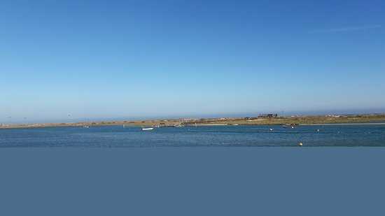 Bild vor der Abfahrt von Fuzeta zur Ilha da Fuzeta