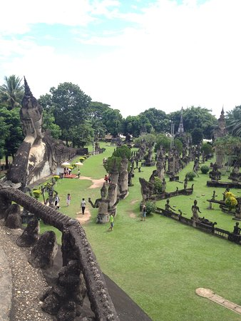Vientiane, Laos: Buddha Park, also known as Xieng Khuan.The park contains over 200 Hindu and Buddhist statues.