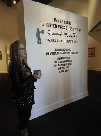 Albany, GA: Katie Dillard, Curator at the AMA, introduces the group to the current exhibit. Now through Febr