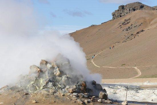 Lake Myvatn, Island: Huerir geothermal region, part of Namafjall field. Myvatn area
