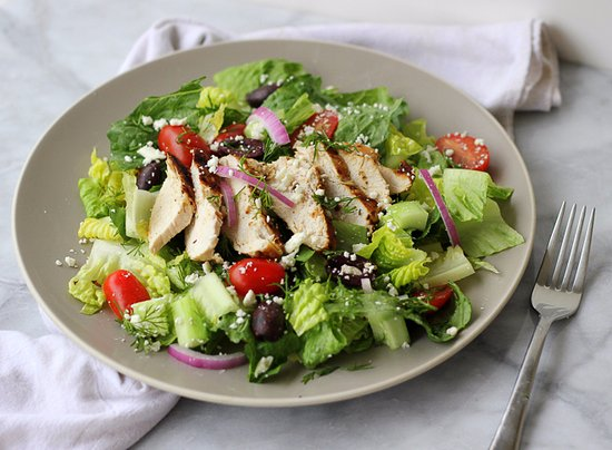 Beltsville, MD: A heathier choice - Greek chicken salad