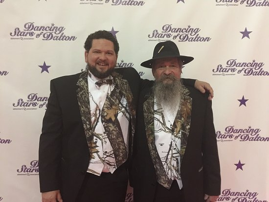 Dalton, GA: Chuck Butler and his Father Master Distiller Raymond Butler all dressed up to shine