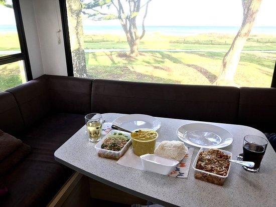 Take-Away from Thai Orewa: Curry, Larb, Pad Thai, rice