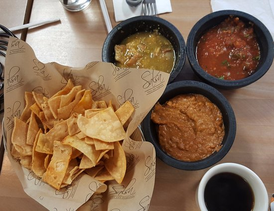 Pico Rivera, CA: amazing bean dip, Chicharrones, and tortilla chips