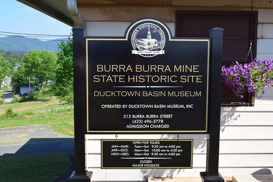 Ducktown Basin Museum - Welcome Sign