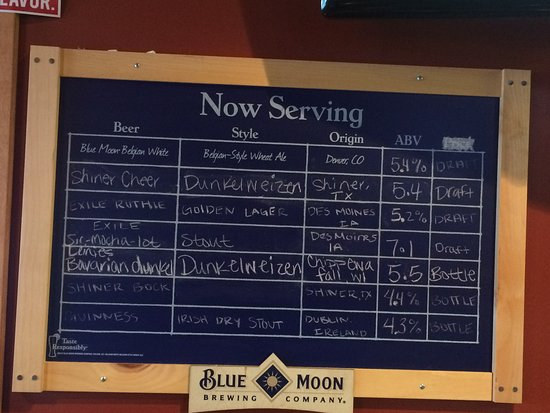 Ankeny, IA: Current beer menu