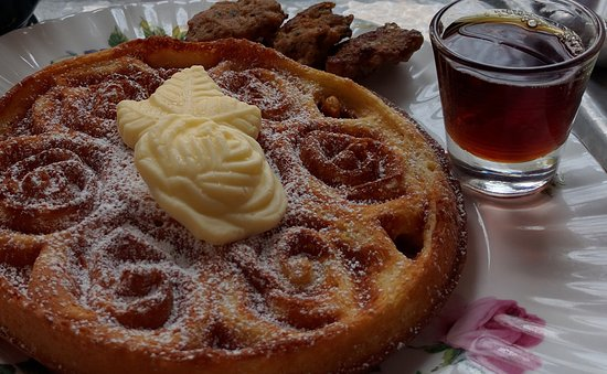 Utica, NY: Rose Bouquet Waffles with fresh, local butter & maple syrup. Whole wheat or gluten-free, your ch