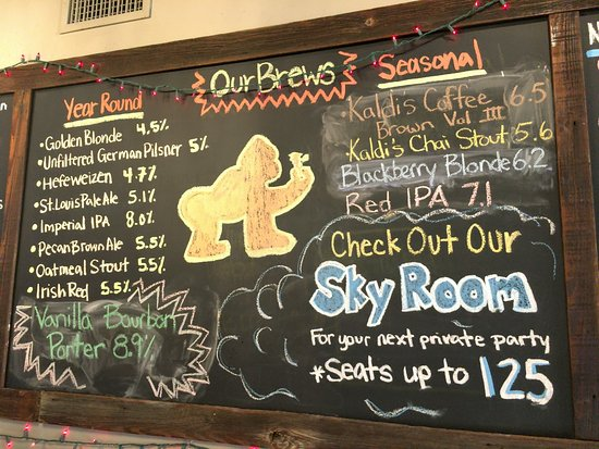 Ferguson, MO: the current on-draft beer list
