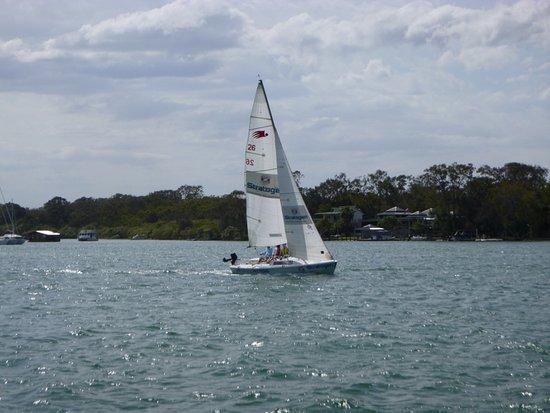Noosaville, Avustralya: Passing yacht