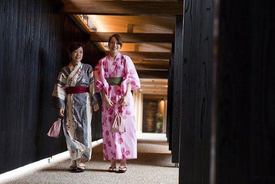 Sumoto, Japan: 「グループホテルを湯巡り」海辺の回廊を渡ってグループホテルの湯巡りへ・・・