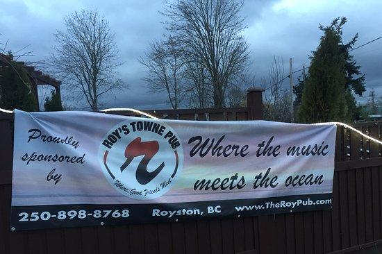 """Where the music meets the ocean."" Roy's Towne Pub, 4000 Island Hwy | Royston, Courtenay, BC"