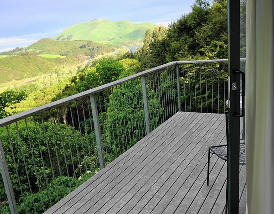 Hereweka Garden Retreat: the view from your private terrace