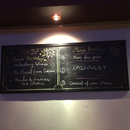 Le Saint Georges Menu Of The Day