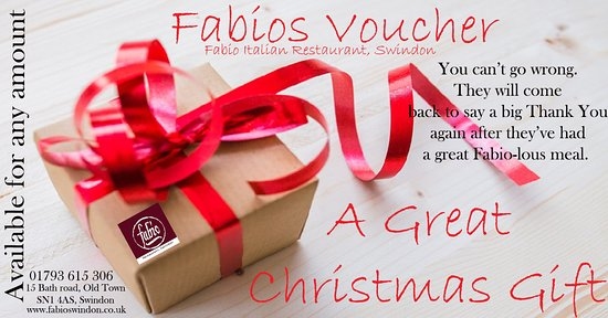 fabios italian restaurant swindon buy fabios gift voucher for someone this christmas