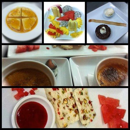 Restaurant La Croisette: Les desserts. Desserts.