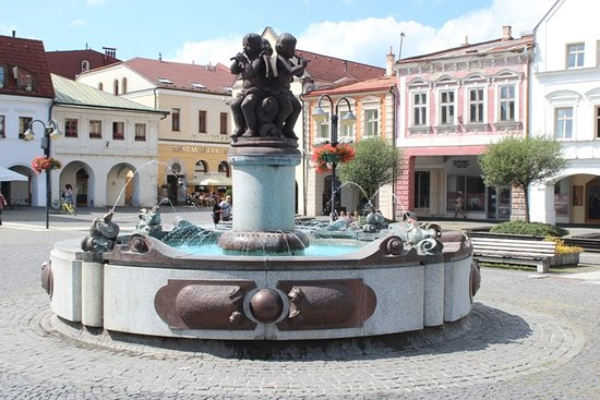 Zilina, Słowacja: La fontana