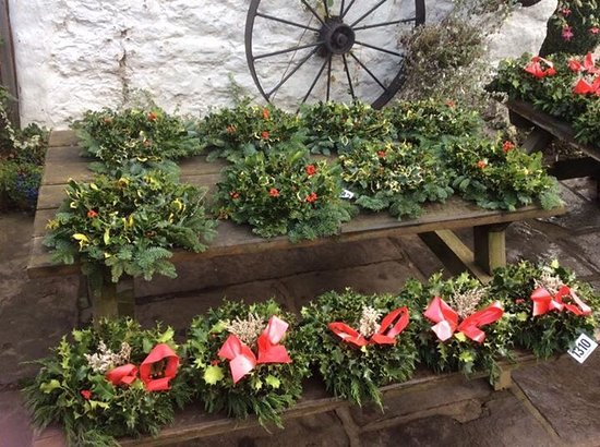 bodafon farm park farmers market throughout dec 2016 holly wreaths and christmas trees in