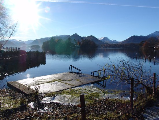 Askham, UK: Lake Ullswater, at the start of our day.