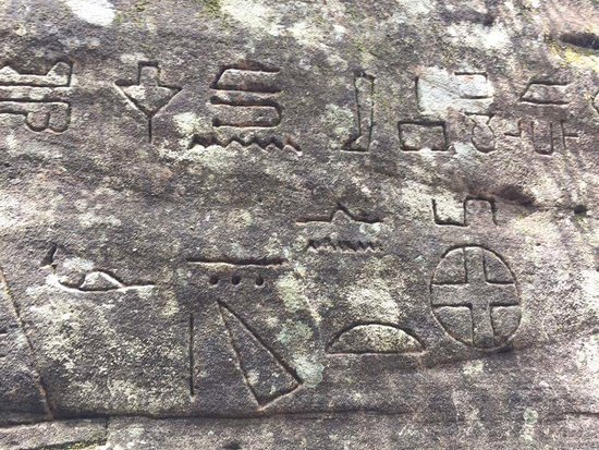 The glyphs wall picture of kariong hieroglyphs gosford