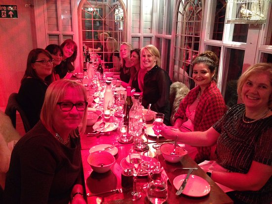 Surbiton, UK: Birthday dinner in the conservatory.